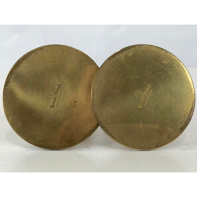 1950's Ystad Metall Brass Candleholders by Gunnar Ander - a Pair For Sale In Buffalo - Image 6 of 9