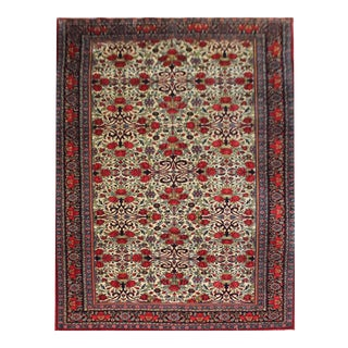 Vintage Persian Bidgar Rug - 5′7″ × 8′7″ For Sale