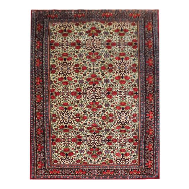Vintage Persian Bidgar Rug - 5′7″ × 8′7″ For Sale