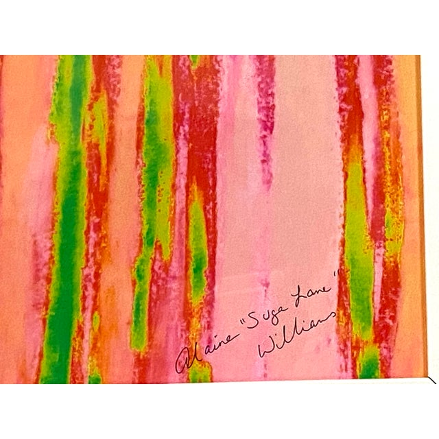 """Abstract Pink Green """"Enlightened Terrain"""" Artist's Print by Suga Lane For Sale - Image 12 of 13"""