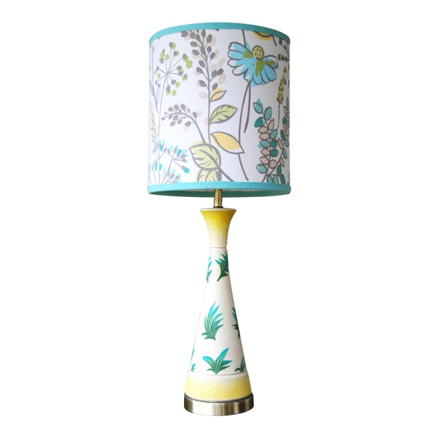 Vintage f.a.i.p. Tropical Chalkware Lamp W/ Custom Shade - Image 1 of 11