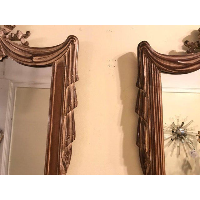 Hollywood Regency Compatible Hollywood Regency Grosfed House Ribbon and Tassle Form Mirrors, Pair For Sale - Image 3 of 13