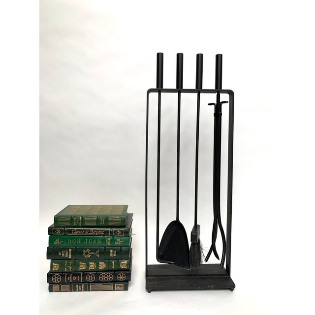 1970s Vintage Modernist Fireplace Tool Set - 5 Pieces For Sale - Image 9 of 11