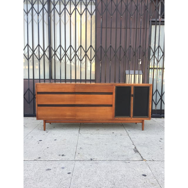 Mid Century Lowboy Dresser With Hidden Vanity by H.Paul Browning for Stanley Furniture Co. For Sale - Image 13 of 13