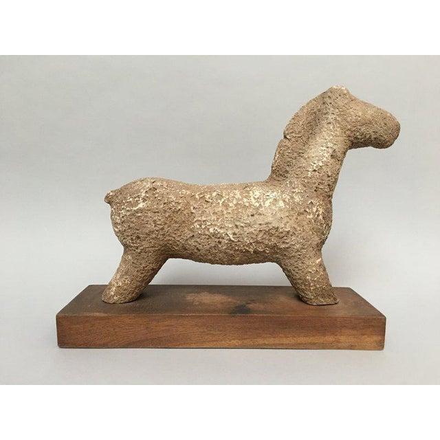 1960s Vintage Rustic Modern Studio Pottery Horse Sculpture For Sale - Image 10 of 10