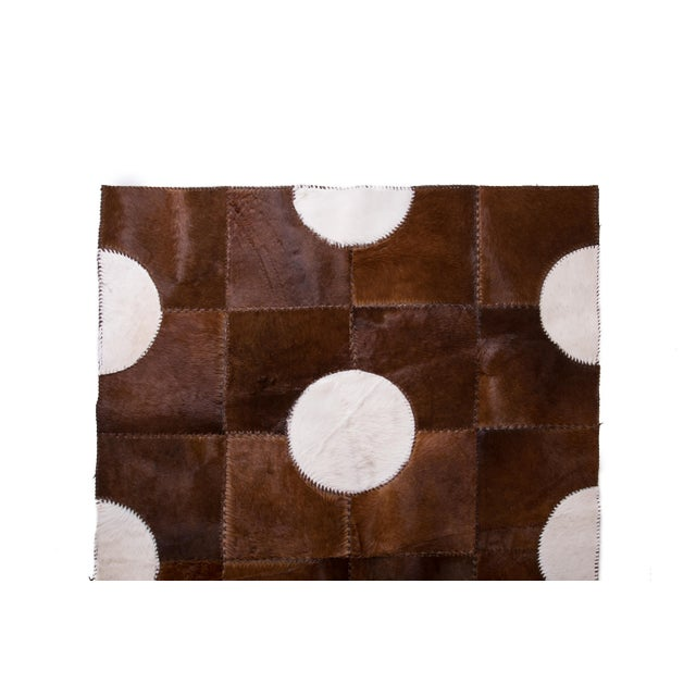 "Aydin Cowhide Patchwork Accent Area Rug - 5'1"" x 7'7"" For Sale - Image 4 of 6"