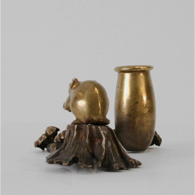 """Contemporary Robert Lee Morris """"Mouse With Vase and Flowers Candleholder"""", 1990s For Sale - Image 3 of 6"""