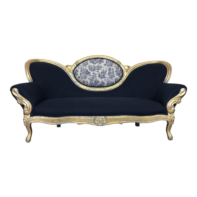 Vintage French Provincial Victorian Sofa For Sale - Image 10 of 10