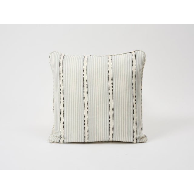 Schumacher Double-Sided Pillow in Moncorvo Stripe Linen Print For Sale In New York - Image 6 of 7