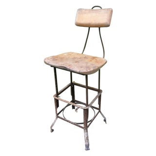 Vintage Industrial Drafting Stool