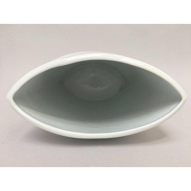 White Porcelain Naaman Op Art Pillow Vase For Sale - Image 4 of 10