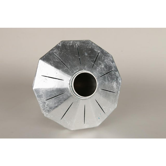 Contemporary Geometric Steel Vase by Topher Gent For Sale In Providence - Image 6 of 7