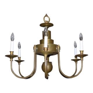 Hart Associates Georgian Style Brass Chandelier For Sale
