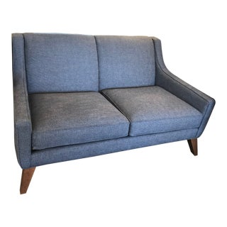 Modern Lily Blue Loveseat For Sale