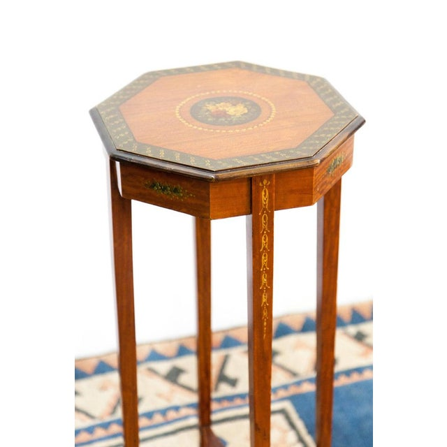 Late 19th Century 1890s Painted Satin Wood Stand For Sale - Image 5 of 6