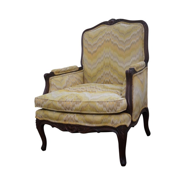 French Louis XV Style Walnut Frame Bergere - Image 1 of 10