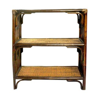 1980s Vintage Bamboo Etagere For Sale