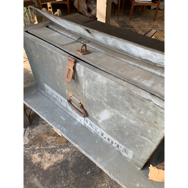 Early 20th Century Metal Ballot Box For Sale - Image 5 of 6
