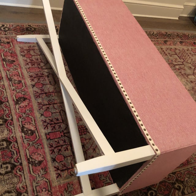 Pink Upholstered Oomph Tini X Bench For Sale - Image 11 of 13