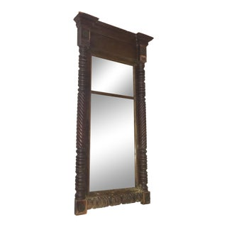 Vintage Carved Mahogany Mirror For Sale