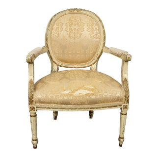 Vintage French Provincial Feutuiel Accent Chair For Sale