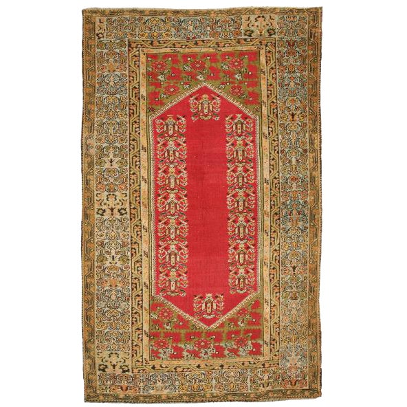 Antique Late 19th Century Turkish Kula Rug For Sale