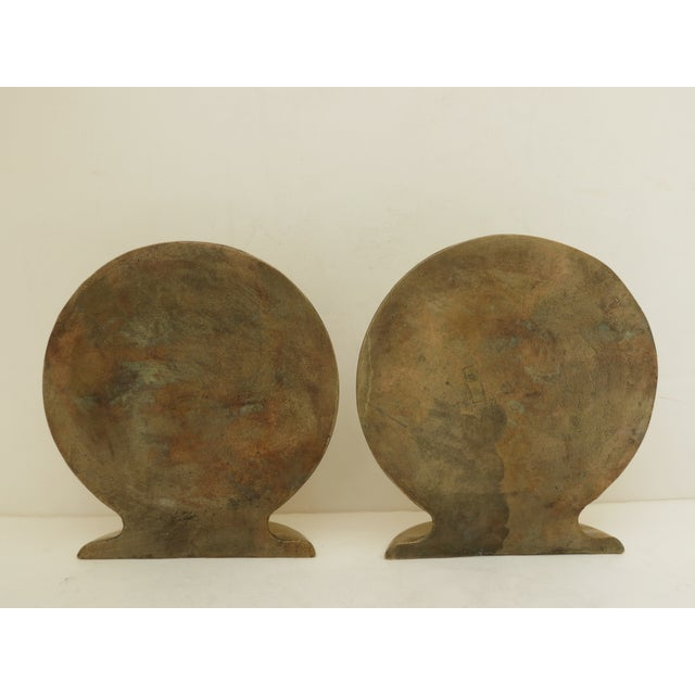 Solid Brass Globe Bookends - A Pair - Image 4 of 6