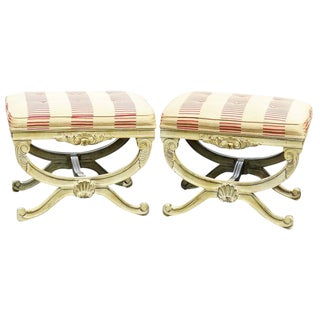 Pair of Regency Style Cerule Stools