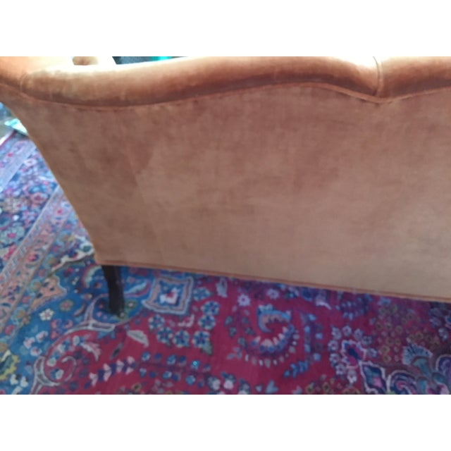 Beautiful vintage sofa in good condition for its age first picture shows true color Other pictures show the small tears in...