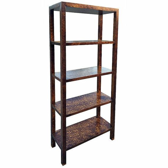 Faux Tortoise Shell Etagere by Lane - Image 1 of 5
