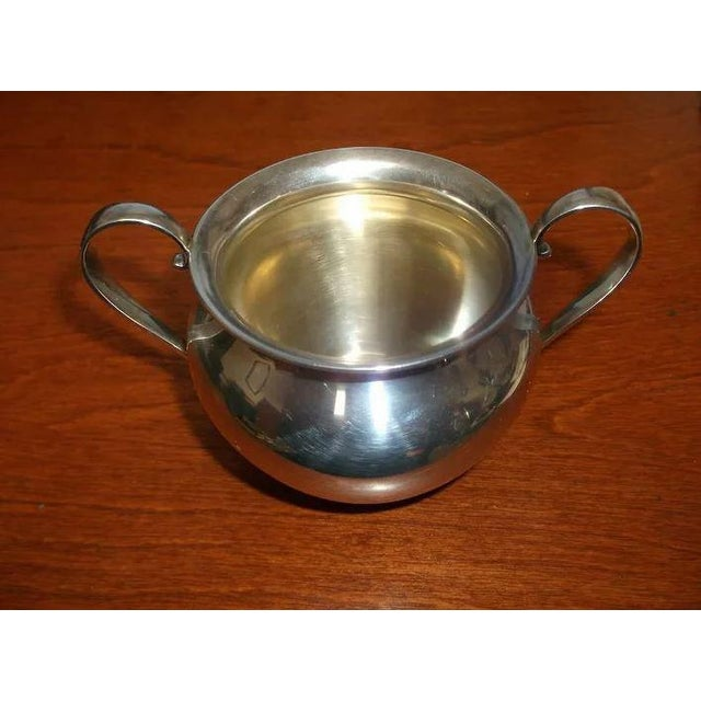 Metal Sterling Silver Sugar and Creamer by International Silver Co. For Sale - Image 7 of 11