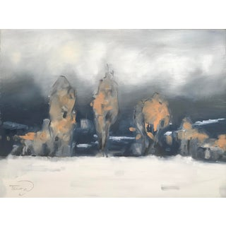 Winter's Last Stand Contemporary Painting For Sale
