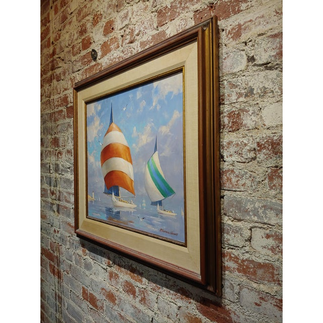 Redmond Stephens Wright - Colorful Sailing Boats -Oil Painting For Sale In Los Angeles - Image 6 of 8