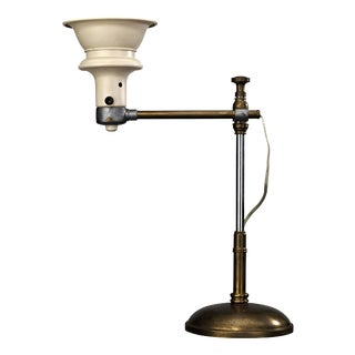 Early 20th Century Industrial Style Adjustable Lamp For Sale