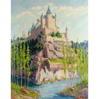 European Castle Painting For Sale