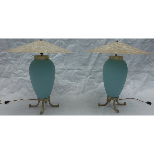 Karl Springer Murano Glass Table Lamps - A Pair - Image 8 of 8