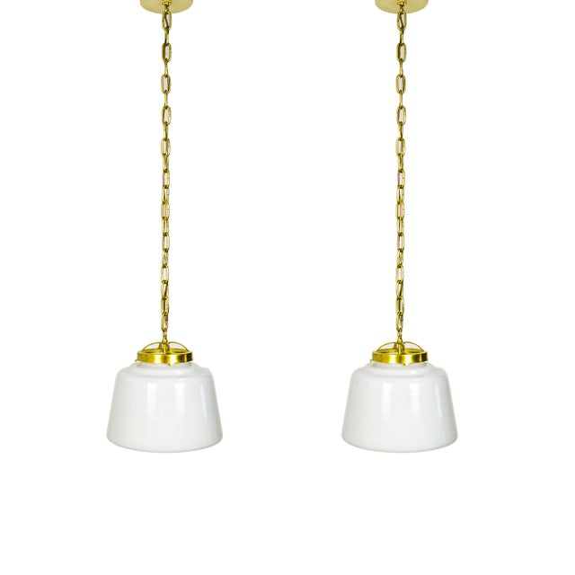 Schoolhouse Lanterns (pair) For Sale - Image 9 of 9