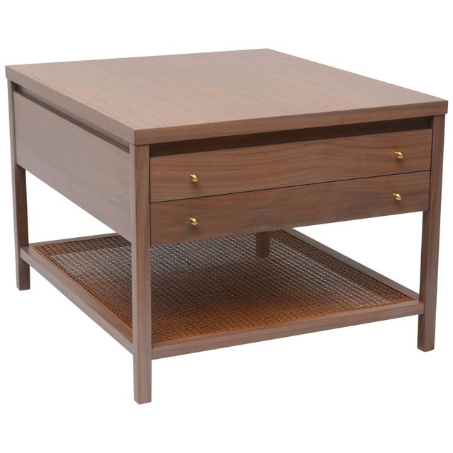 Greige Walnut Side Table by Paul McCobb for Calvin For Sale - Image 11 of 11