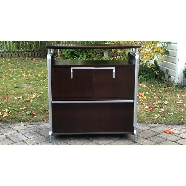 2000 - 2009 Herman Miller Rosewood & Metal Cabinet For Sale - Image 5 of 13