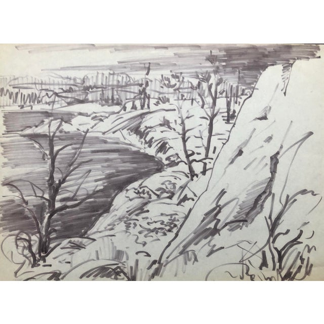 1950s River Landscape by Henry Gasser For Sale - Image 4 of 4