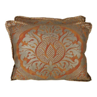 Pair of Italian Fortuny Accent Pillows For Sale