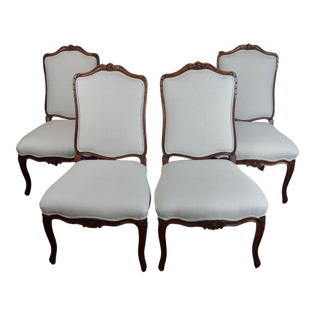 French Provincial Country Style Oversized Dining Chairs - Set of 4 For Sale