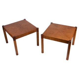Vintage Modern Rosewood Side Tables - A Pair For Sale