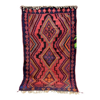 Semi-Antique Kurdish Kilim For Sale