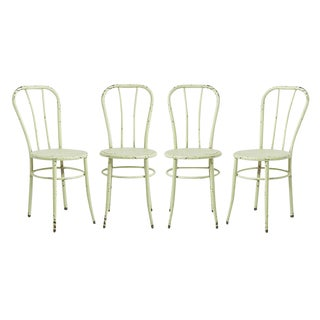 Set of 4 Mint Green William V. Willis Operating Room Chairs Circa 1910s