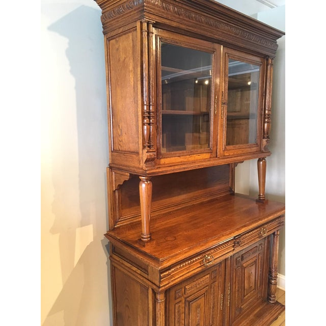 Antique French Carved Cabinet For Sale - Image 4 of 8
