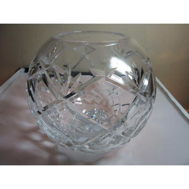 Clear Cut Crystal Rose Bowl Vase - Image 4 of 10