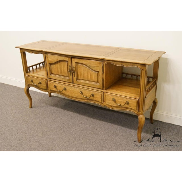 """Thomasville Thomasville Furniture Chateau Collection French Country 64"""" Server / Buffet For Sale - Image 4 of 13"""