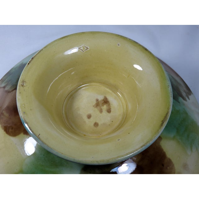 Antique 1880s Majolica Compote Serving Piece For Sale - Image 11 of 13