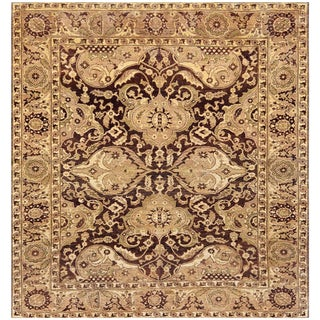 """Mansour Fine Quality Handwoven Sultanabad Rug - 8'2"""" X 9'7"""" For Sale"""